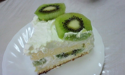 キウイのチーズクリームケーキ