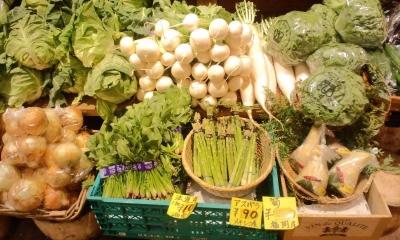 店頭で売られている野菜たち