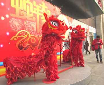 春節ムード増す北京の街角