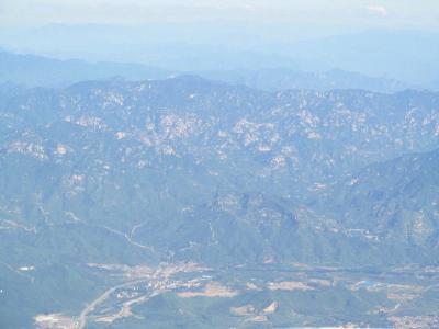 2013年7月、北京周辺の山並