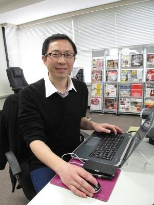 �『東京流行通訊』編集長の姚遠さん