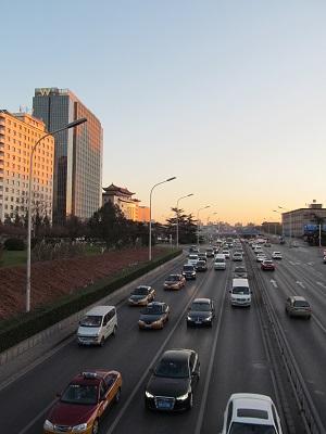 北京・建国門(2015年12月10日夕)