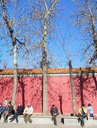 晴天の北京市内(2015年12月)