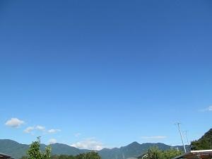 信州の夏空