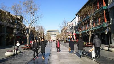 北京の青空(2017年12月)