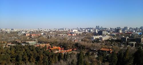 北京の景山公園から