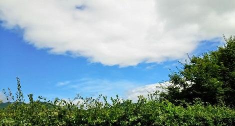 故郷の青空