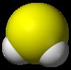 硫化水素3Dモデル