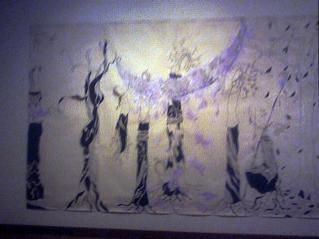 木の妖精の宇宙樹の絵画