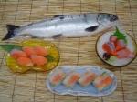 ビワマス(琵琶鱒)刺身料理