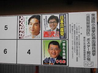 衆議院議員総選挙の候補者の氏名(名前)