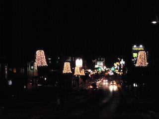 彦根ベルロード商店街の街路灯イルミネーション