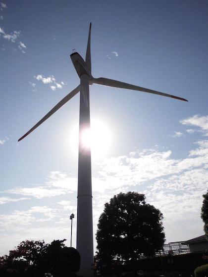 風力発電施設「くさつ夢風車」