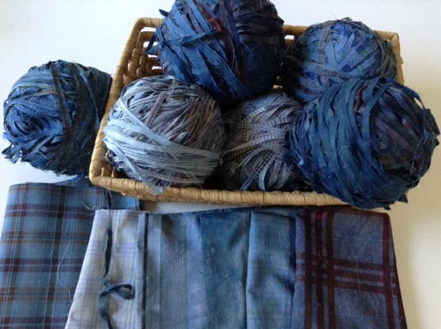 藍染シュレッド糸