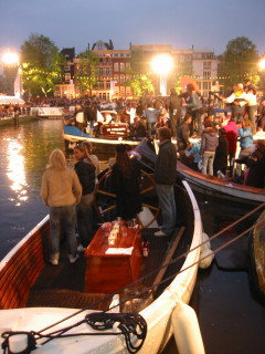 Audience on boats