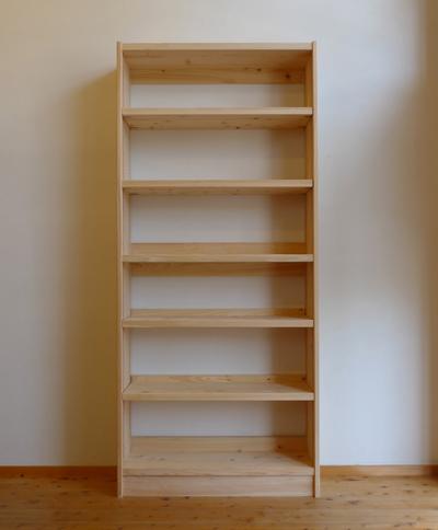 ヒノキ無垢の書棚