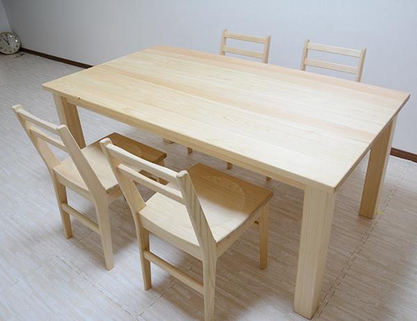 ひのき無垢 Pテーブル