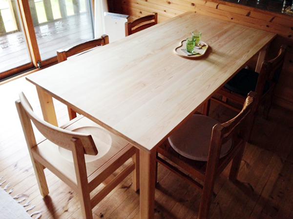 ひのき無垢 テーブル3