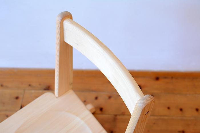 ひのき無垢 高さ調整式学習椅子4