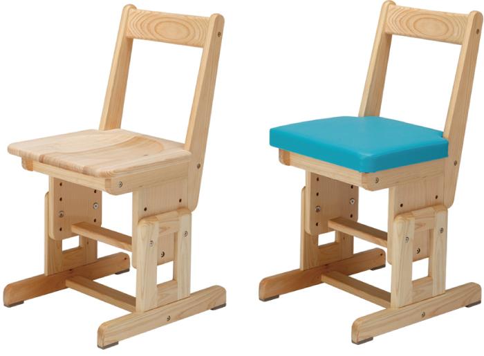 ひのき無垢 高さ調整式学習椅子1