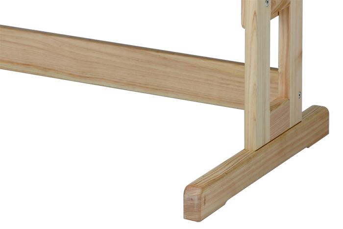 ひのき無垢 高さ調整式学習椅子8