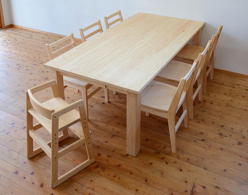 ひのき無垢 ダイニングテーブル5