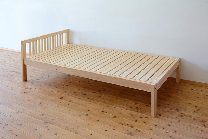 ひのき無垢 シングルベッド