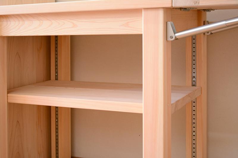 ひのき無垢 引き戸食器棚4