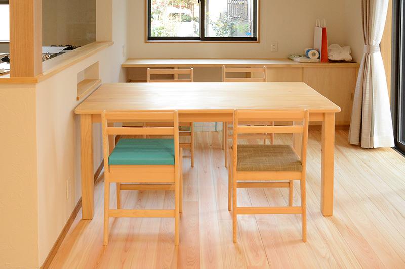 ひのき無垢 テーブルセット1