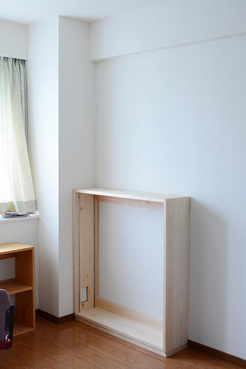 ひのき無垢 壁面書棚3