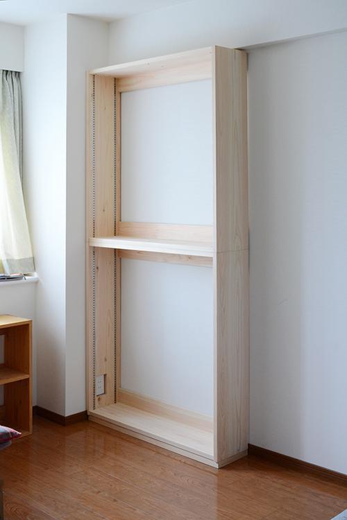 ひのき無垢 壁面書棚5
