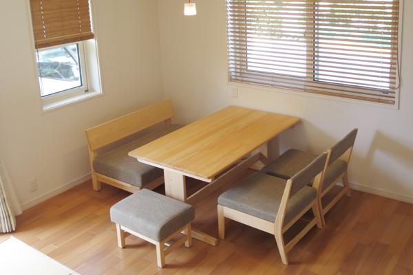 ひのき無垢 Bテーブル1