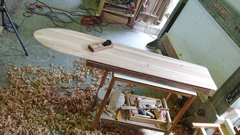 アライア 木製 サーフボード11
