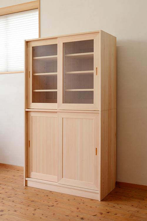 2段引戸の食器棚3
