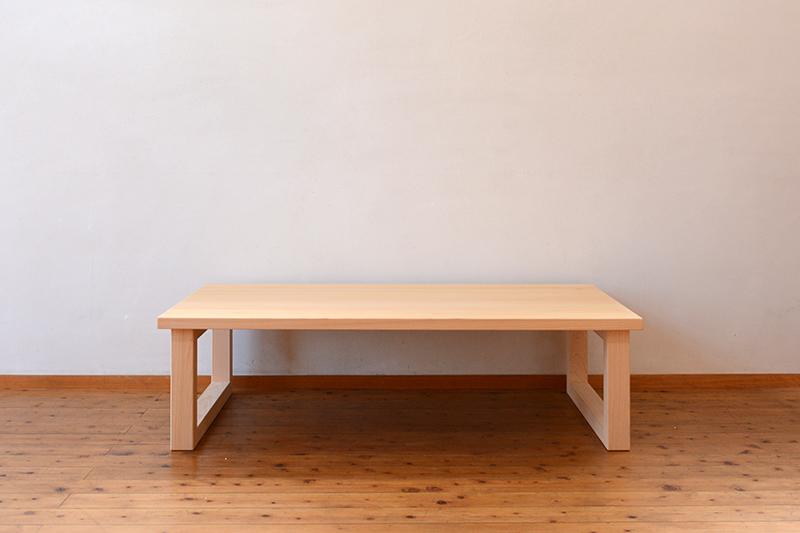 ひのき無垢 幕板のないテーブル1