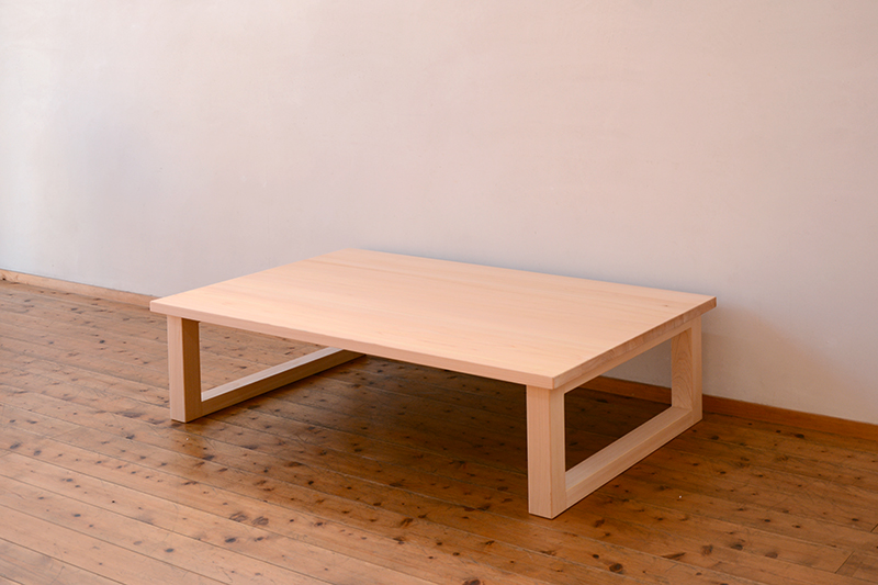 ひのき無垢 掘りごたつテーブル3