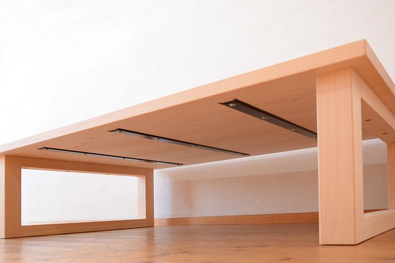 ひのき無垢 掘りごたつテーブル2