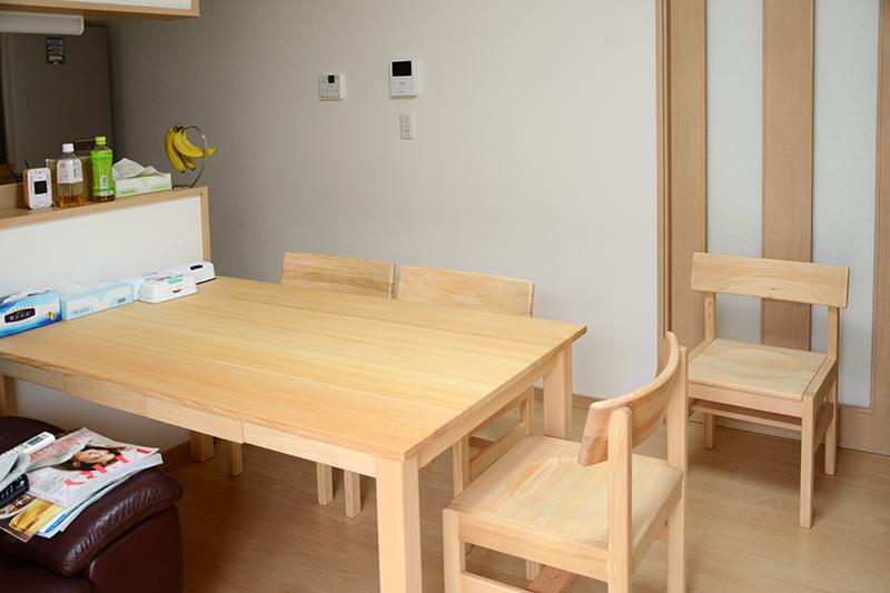 ひのき無垢 テーブル