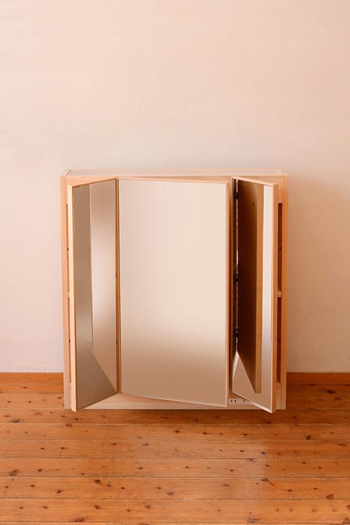 ひのき無垢 三面鏡2