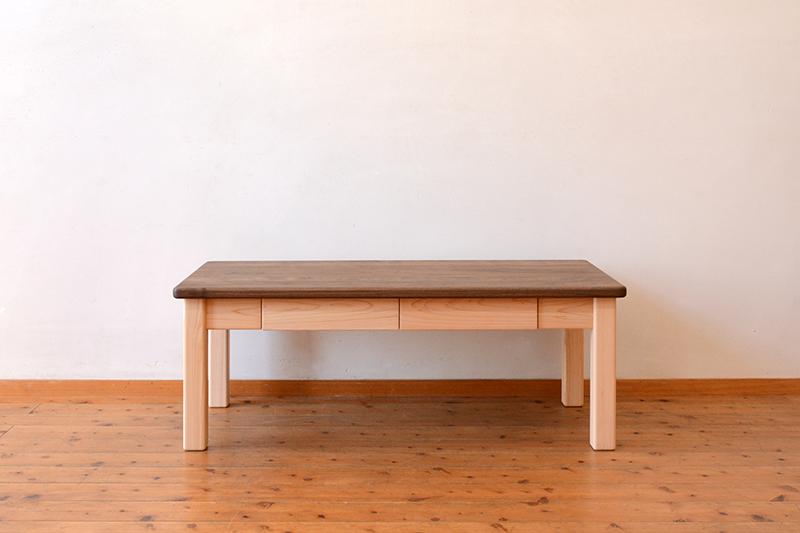 ひのき くるみ コーヒーテーブル1