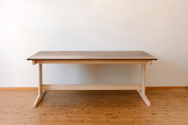ひのき ウォールナット テーブル