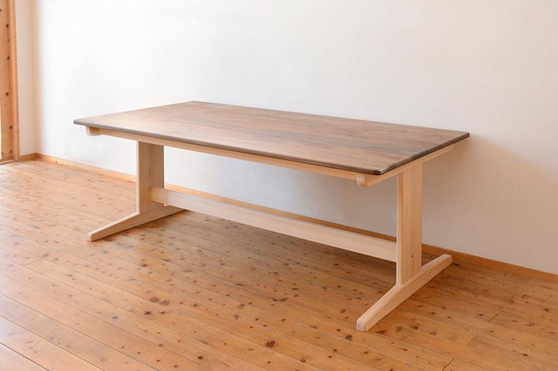 ひのき ウォールナット テーブル4