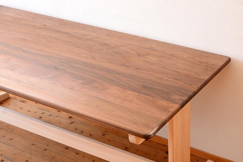 ひのき ウォールナット テーブル1