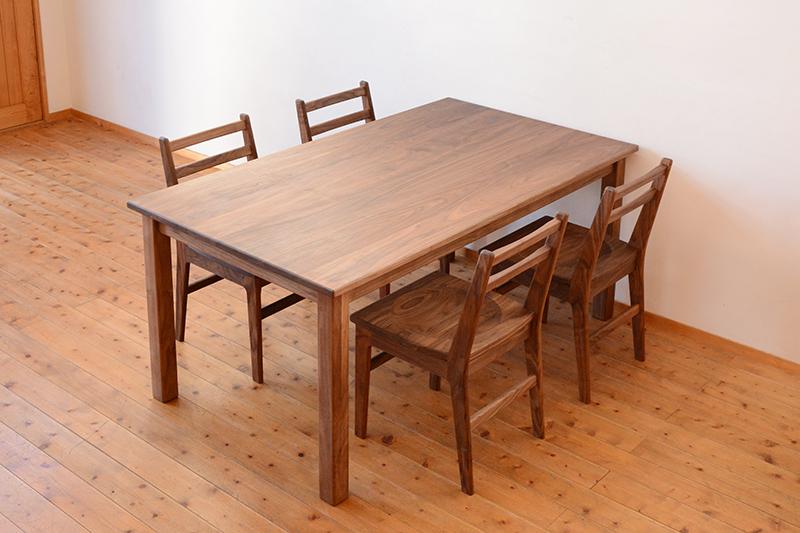 くるみとさくら Pテーブル ダイニングテーブル7