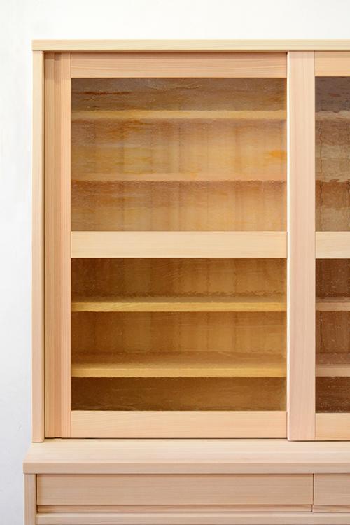 檜無垢 食器棚3