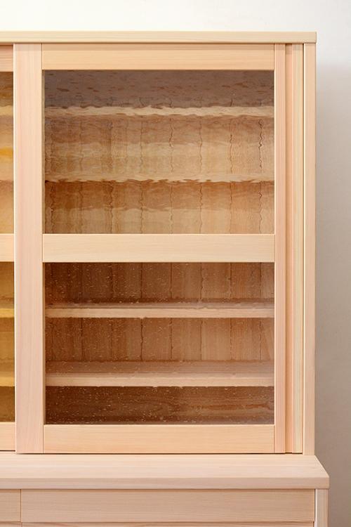 檜無垢 食器棚4