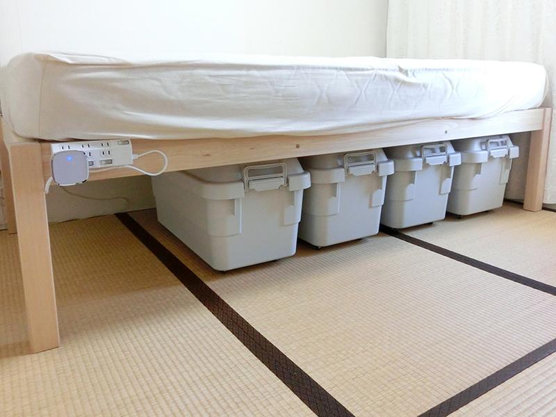 ひのき無垢 ベッド