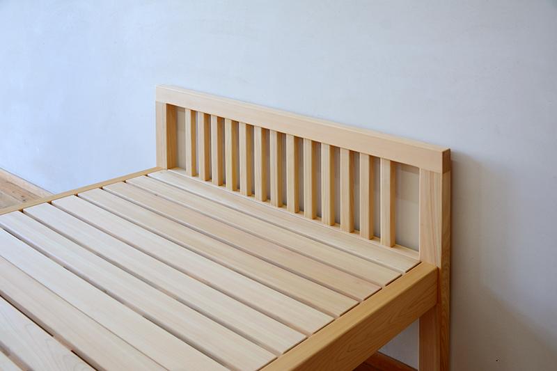 ひのき無垢 シングルベッド2