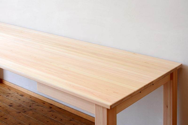 ひのき無垢 ビックテーブル2