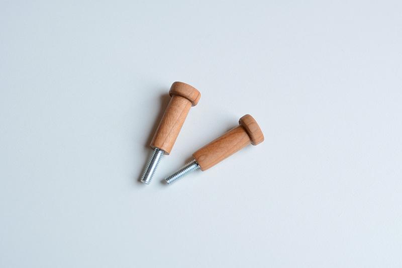くるみとさくら 木製フック3